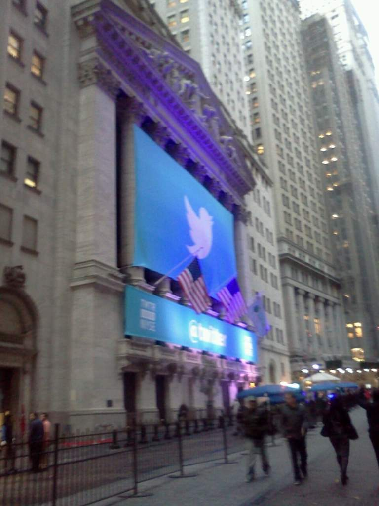 NYSE with Twitter Banner