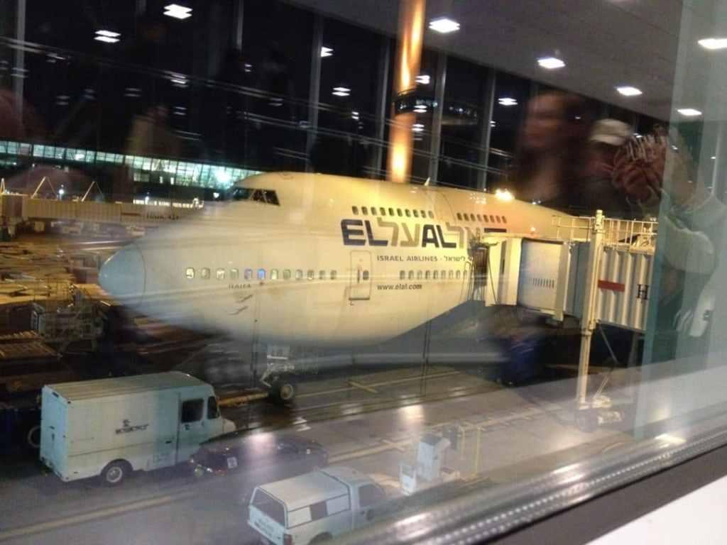 The El Al plane we flew in.