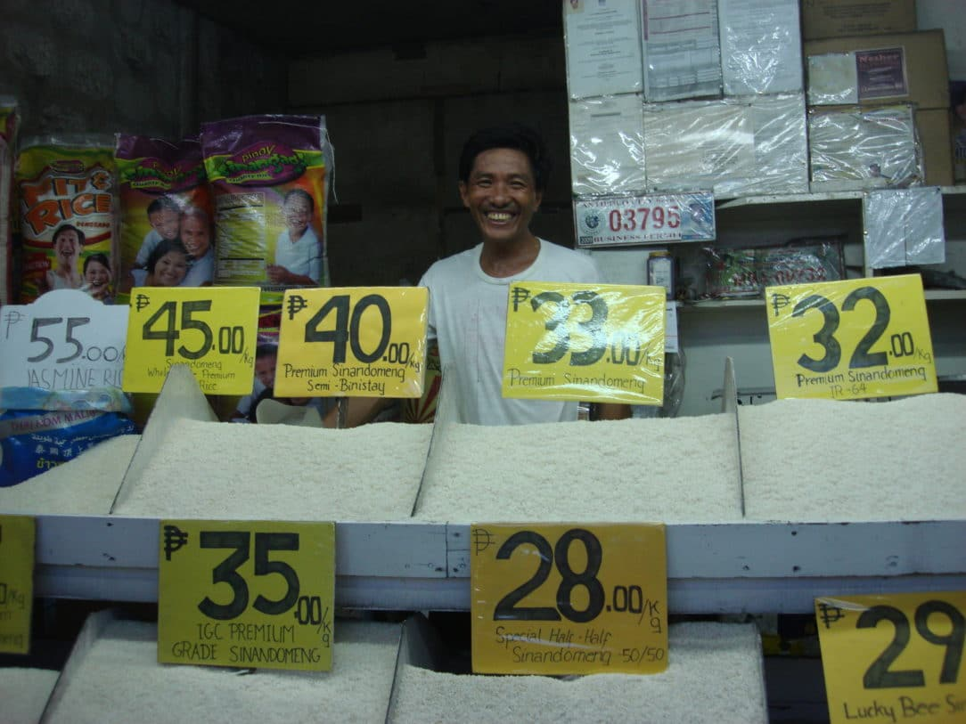 Man selling rice in Antipolo