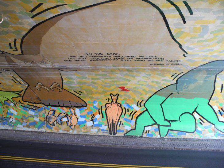 Mural in tunnel near Boston Rd. Zoo Entrance