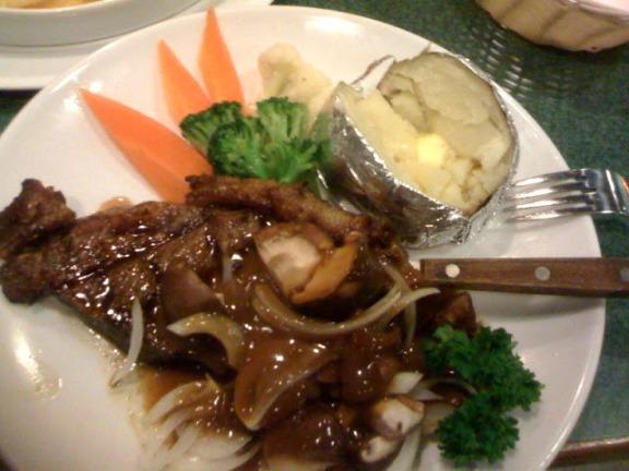 Buddy Hoagies sirloin mushroom steak.