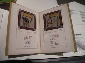 A Hebrew Alef-Bet Book. Alef and Bet are the first letters of the Hebrew Alphabet.