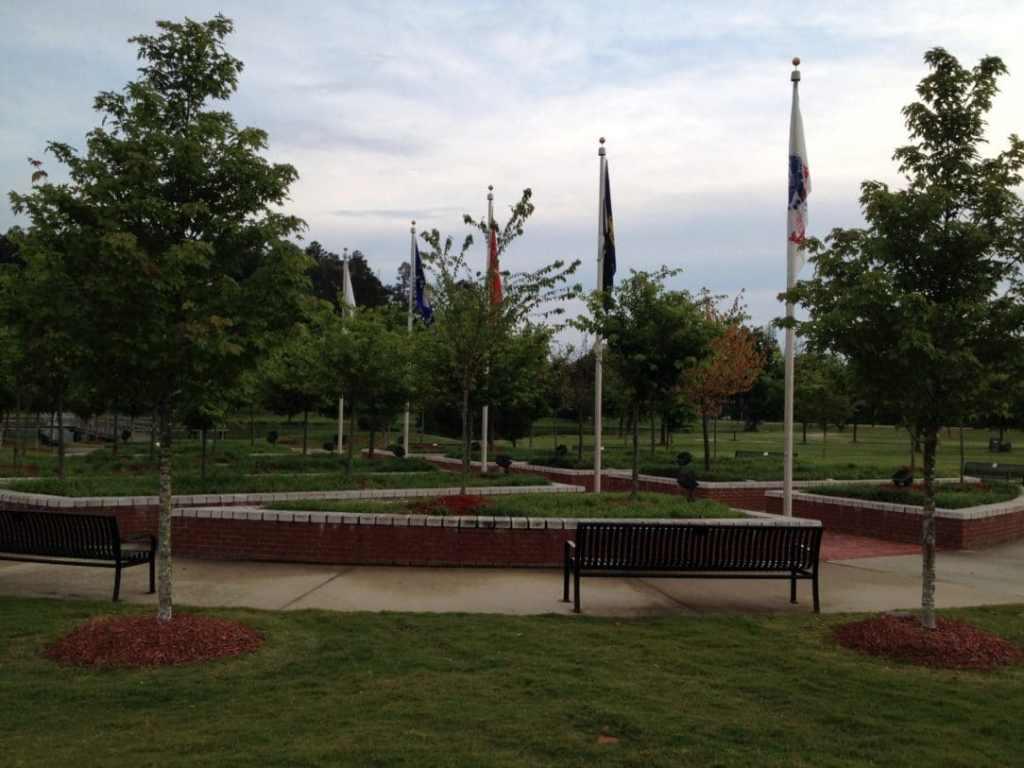 Flags at Veterans Memorial Park in Tupelo, MS