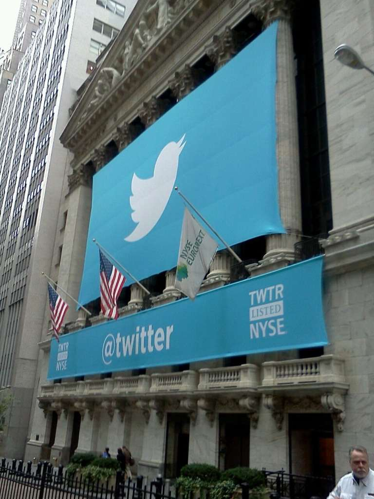 Twitter Banner on NYSE for IPO